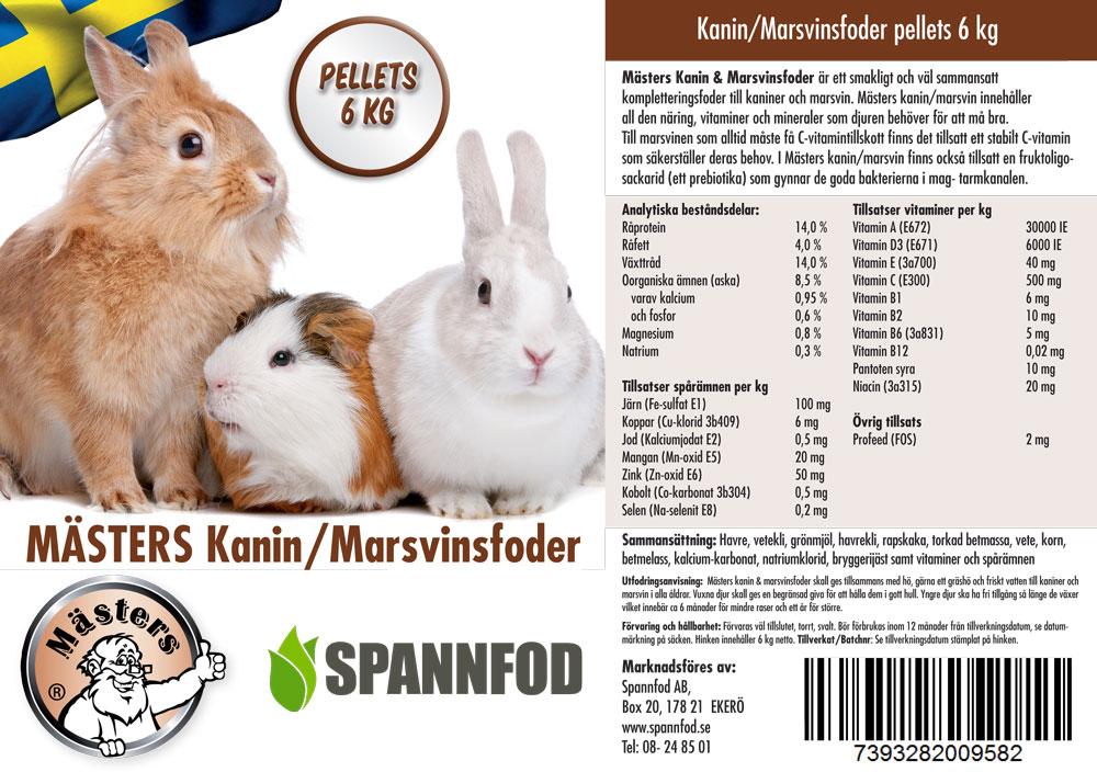Mästers kanin- och marsvinsfoder